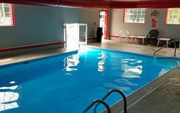 Picture of the Indoor Pool at the Pet Friendly Bay Lodging Resort Put-in-Bay