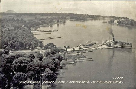 Photo of the early history of the downtown Put-in-Bay Docks