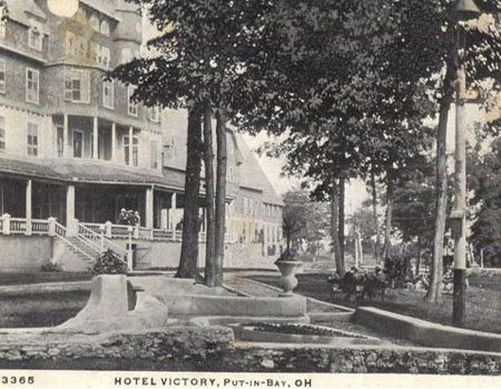 A photo of the history of the Hotel Victory at Put-in-Bay