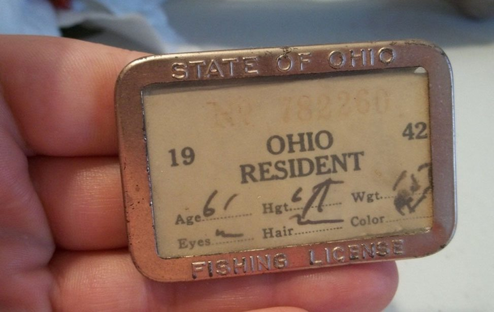 Picture of a Ohio Fishing License
