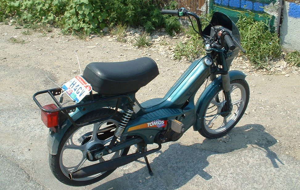 Picture of the Mopeds at Put-in-Bay Ohio