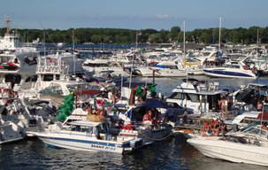 Picture of the Put-in-Bay Boat Docks and Marina