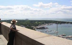 Picture from the top of the Put-in-Bay Ohio Monument
