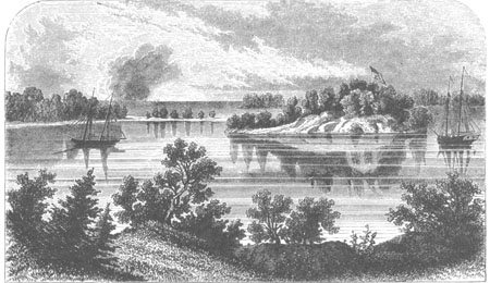 Picture of the early history of Put-in-Bay Harbor