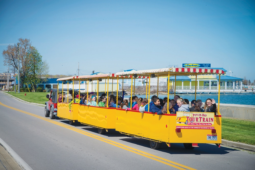 Photo of the Tour Train One of the Things To Do At Put-in-Bay